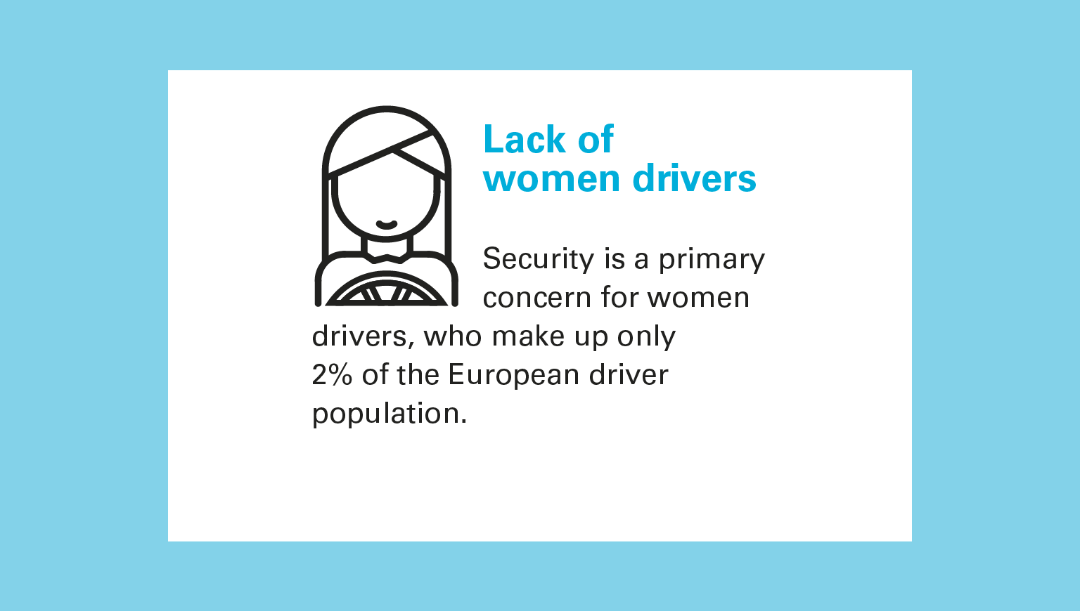 Lack of women drivers