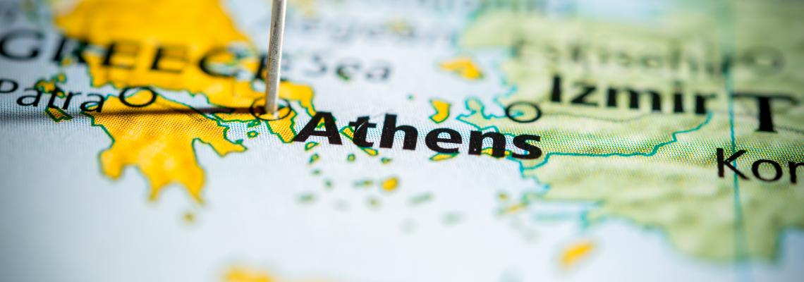 map of greece with athens