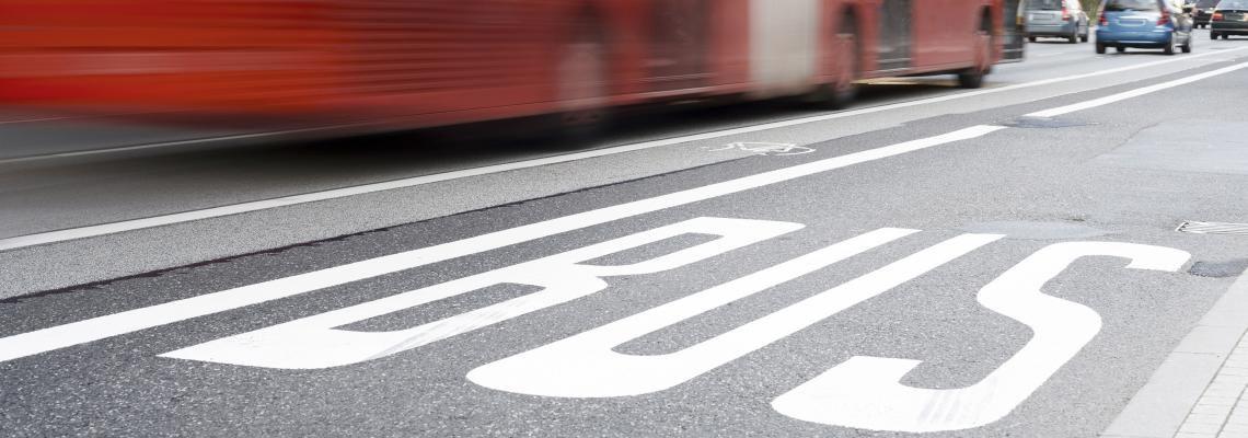 bus lanes in the city