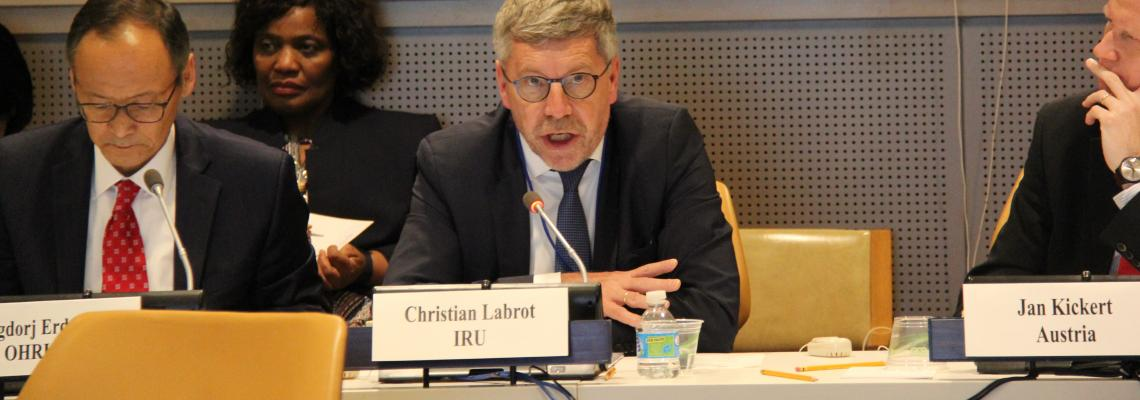 Christian Labrot at ECOSOC event New York