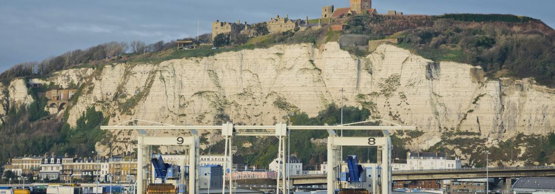 white cliffs port of dover