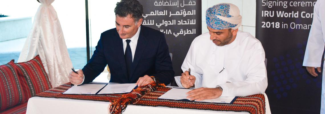 Umberto de Pretto signing agreement Oman