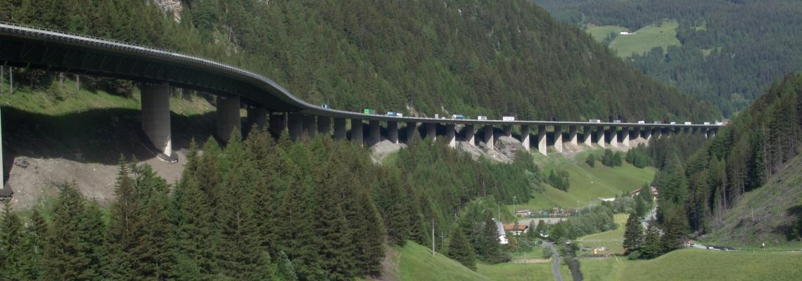 Brenner Pass between Austria and Italy
