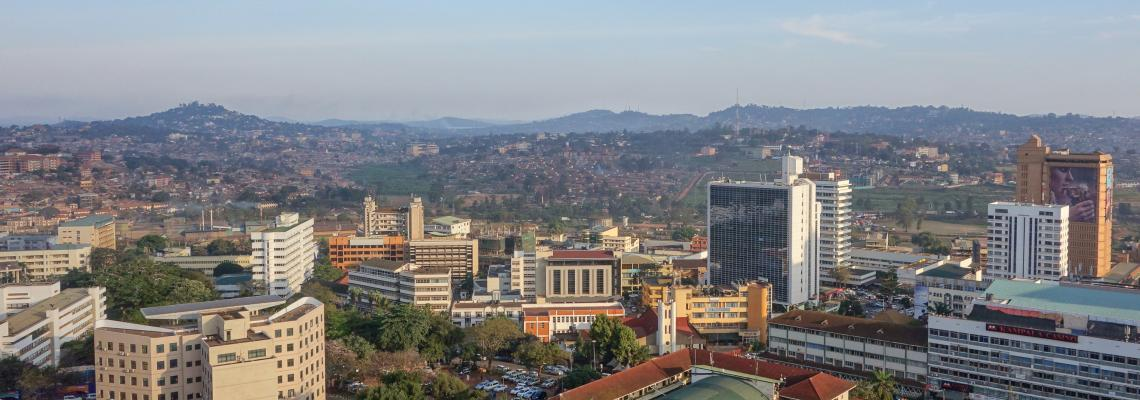 View of the city of Kampala