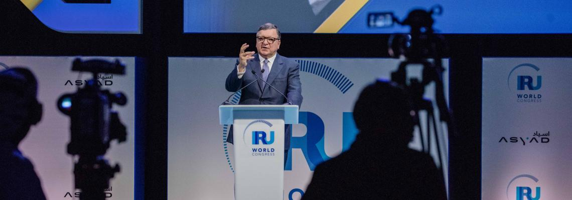 IRU World Congress kicks off in Muscat - Barroso and Defterios
