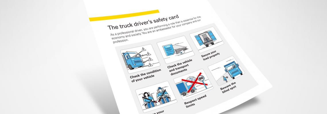 The truck driver's safety card