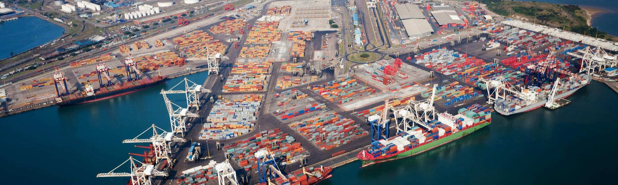 Port of Durban from above