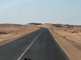 road through the Sahara dessert