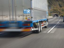truck with TIR logo on the move
