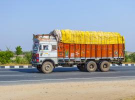 Indian truck on a highway