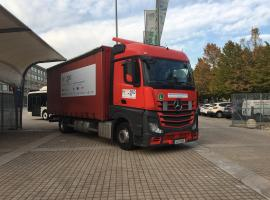 Emergency call demo truck starts tour in Turin