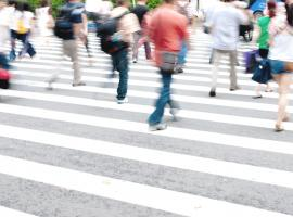 safety people crossing zebra crossing