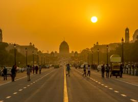 New Delhi sunset