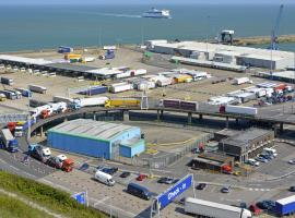 Trucks at Dover Port