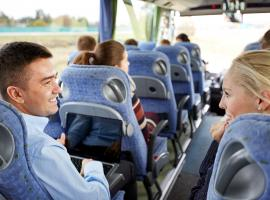 passengers sitting in a coach
