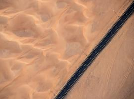 Road in Yemen desert