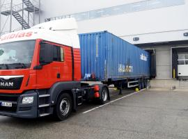 Truck in docking bay