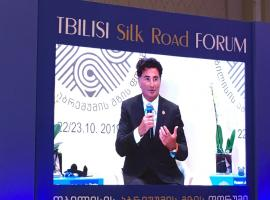 IRU Umberto de Pretto calls for e-corridors at the Tbilisi Silk Road Forum