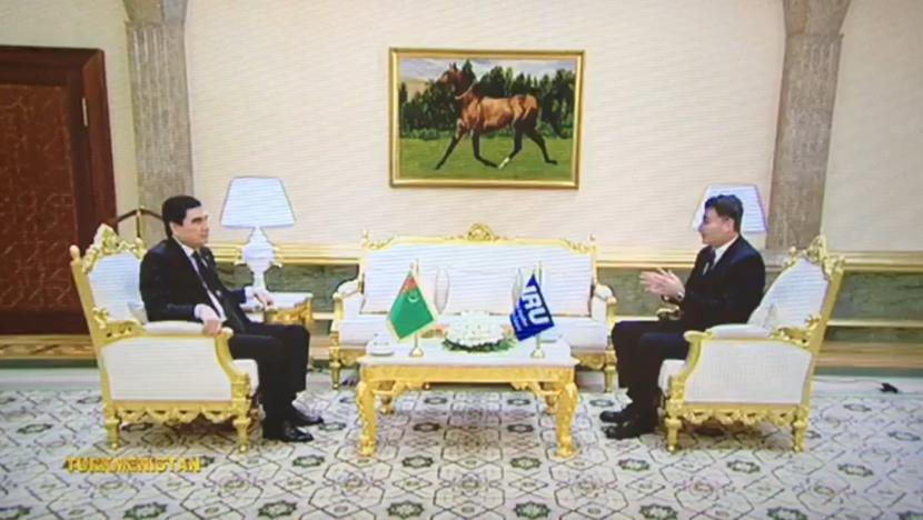Umberto de Pretto with Turkmen President