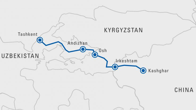 Uzbekistan, Kyrgyzstan and China activate new overland trade route