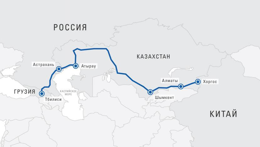 First TIR transport from China to Georgia via Kazakhstan and Russia