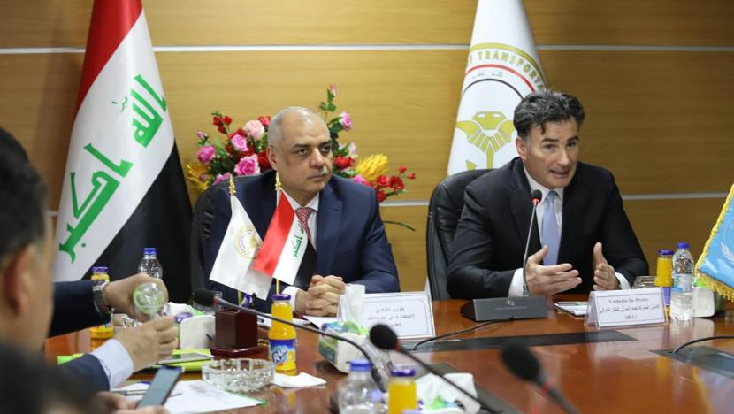 Minister of Transportation H.E. Abdullah Luaibi and IRU Secretary General Umberto de Pretto