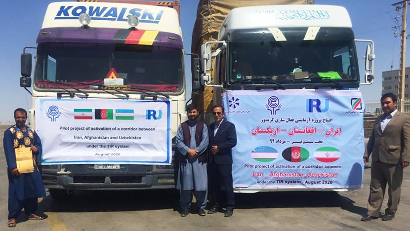 TIR - from Iran to Uzbekistan, through Afghanistan for the first time - trucks