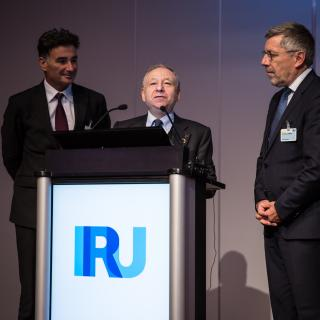 Jean Todt today at the IRU General Assembly